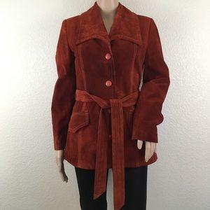 Vintage 70s Uruguay Genuine Suede Leather Coat